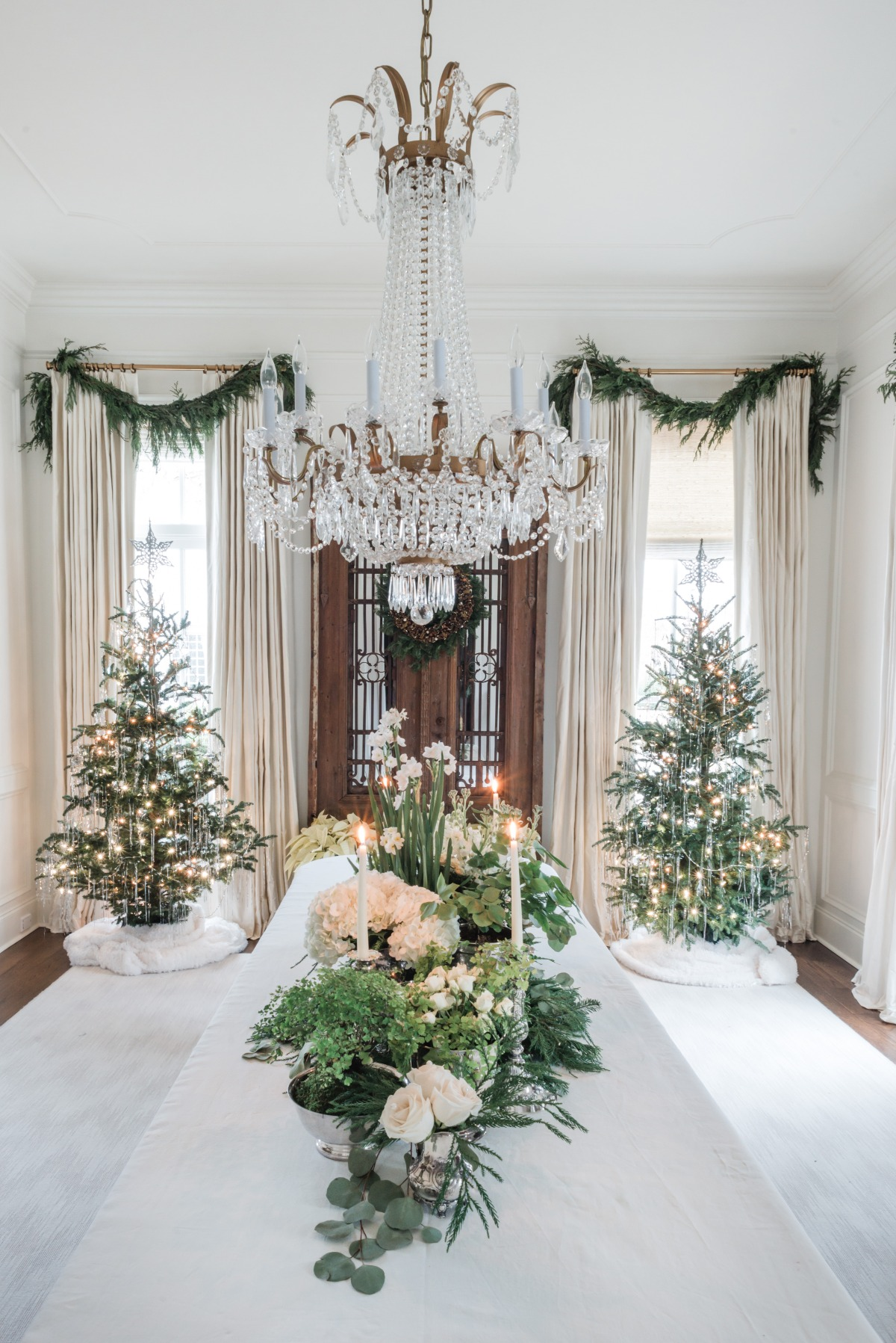 Greenery Christmas decor