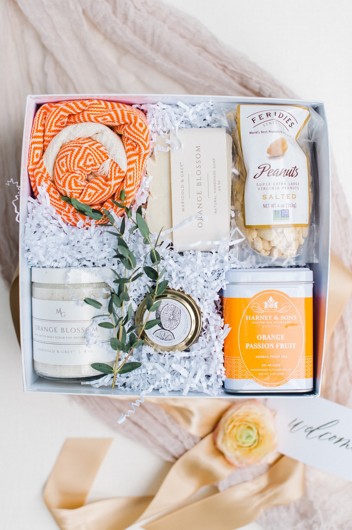 Citrus themed wedding box