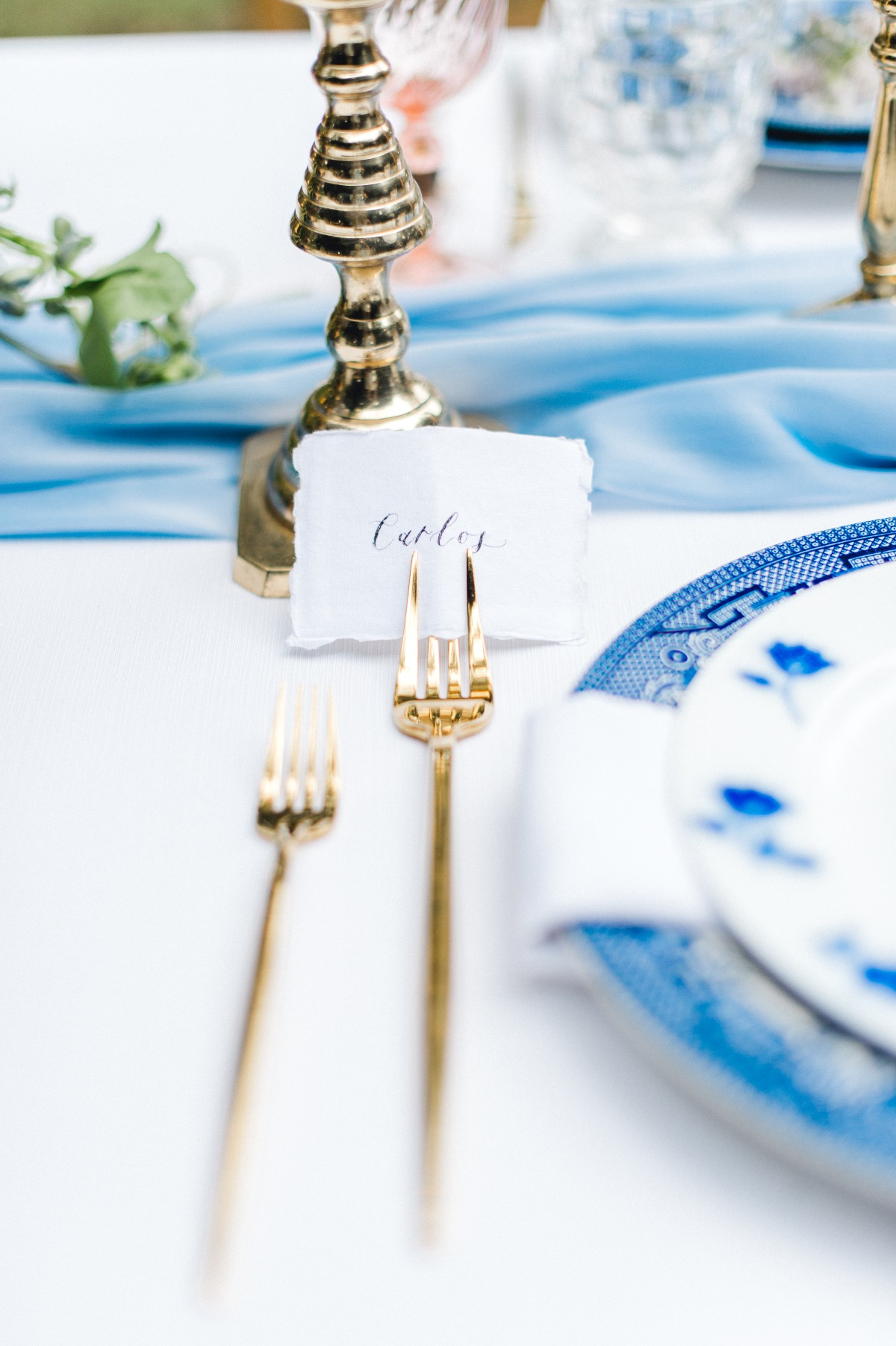 Use a fork as your wedding place card holder