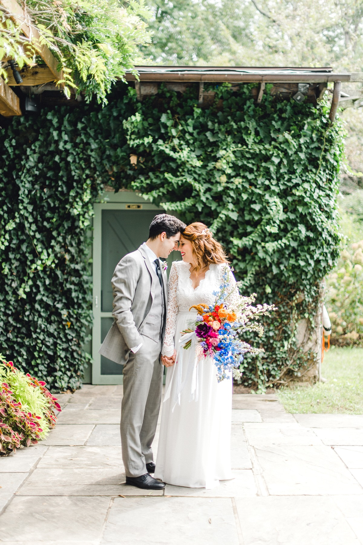 Colorful outdoor elopement