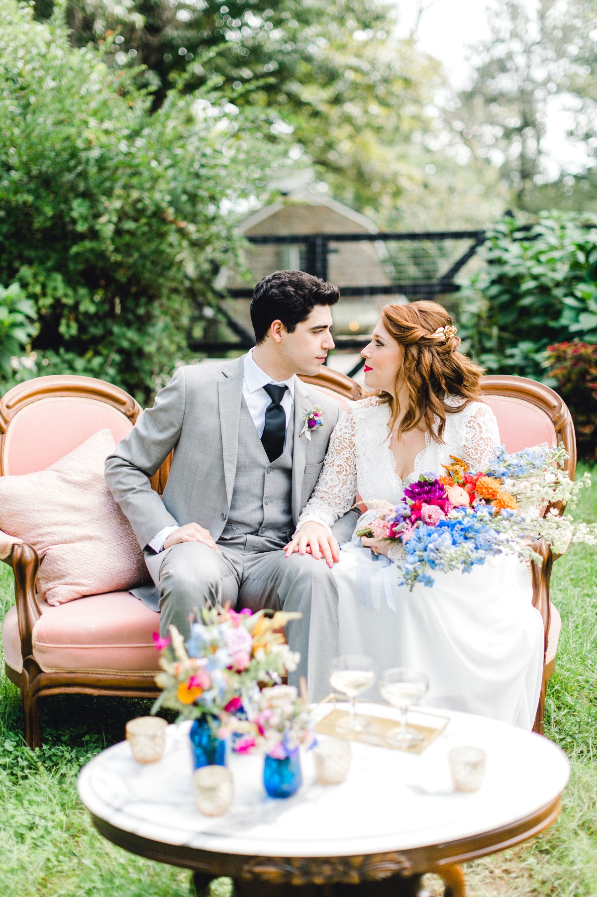 Bright and cheerful outdoor elopement ideas