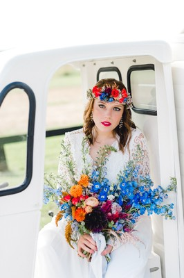How to Style Your Wedding with Bright Pops of Color