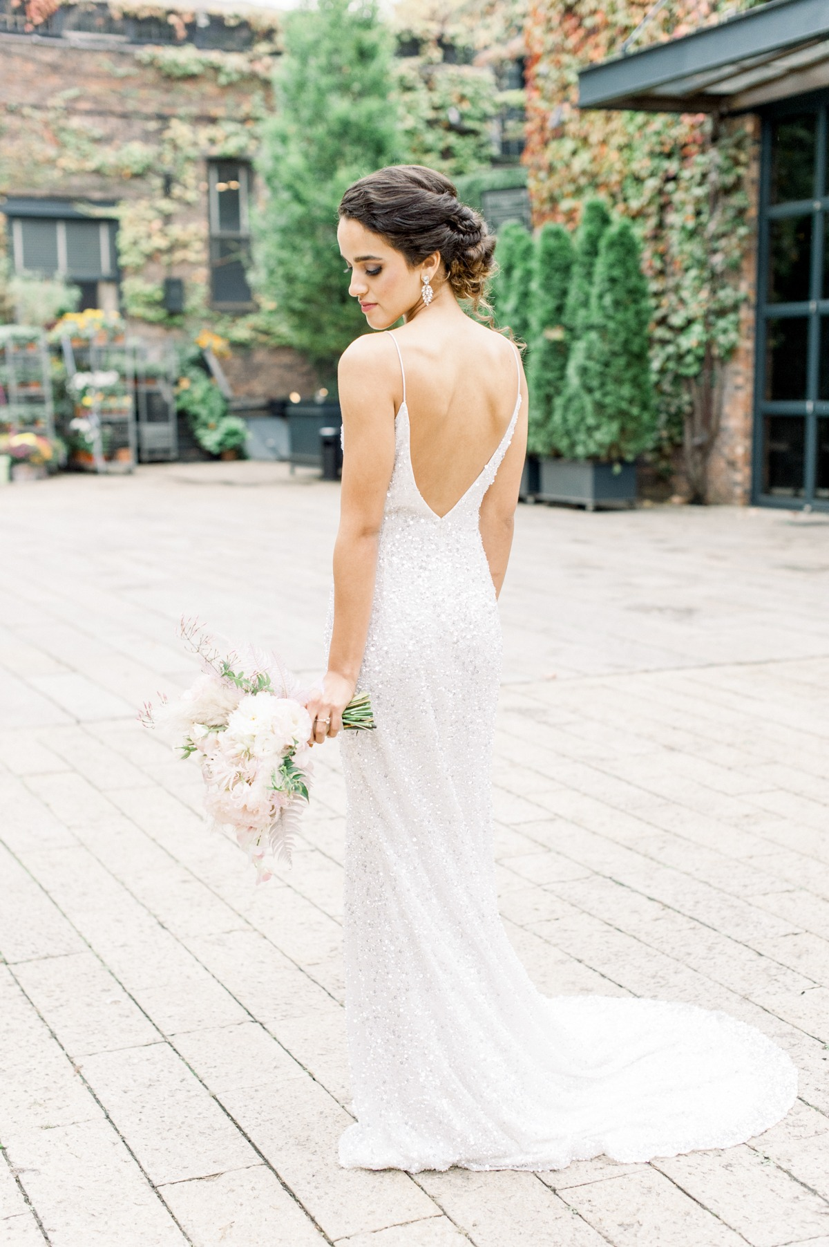 Theia Couture sparkly wedding dress