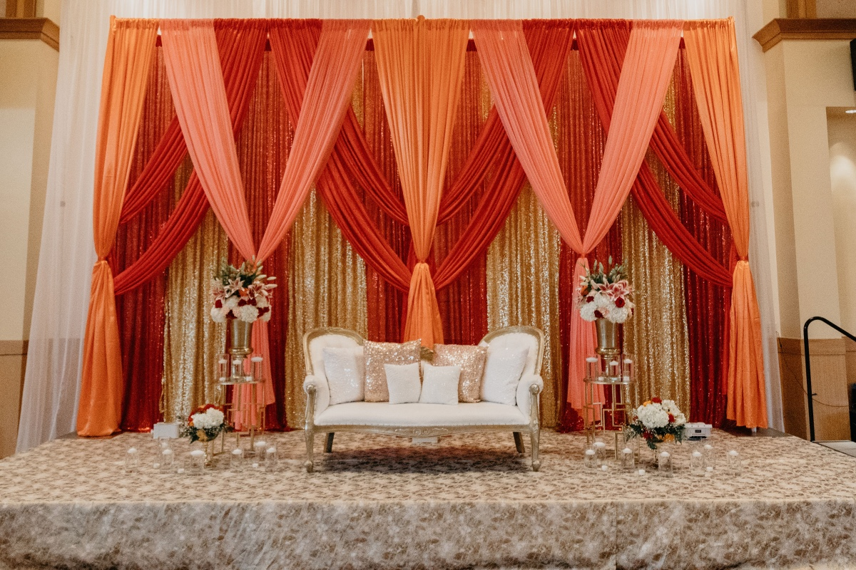 Bride and groom seating area