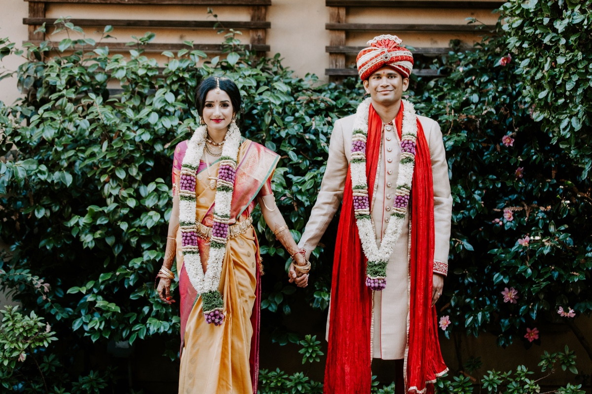 Traditional Hindu wedding in the redwoods