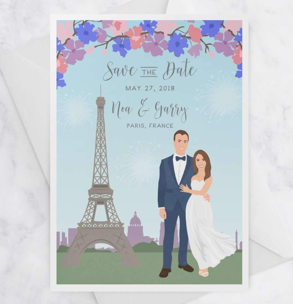 Save the Dates are an important part of your big day, especially if you're having a destination wedding!! This Portrait Save the Dates