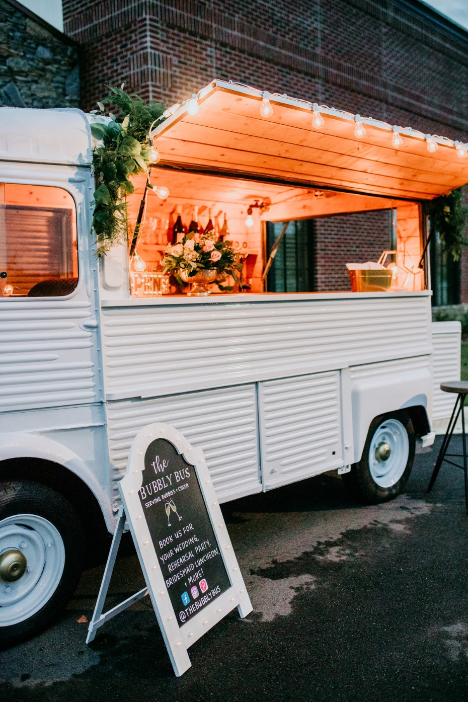 Hire The Bubbly Bus for your wedding