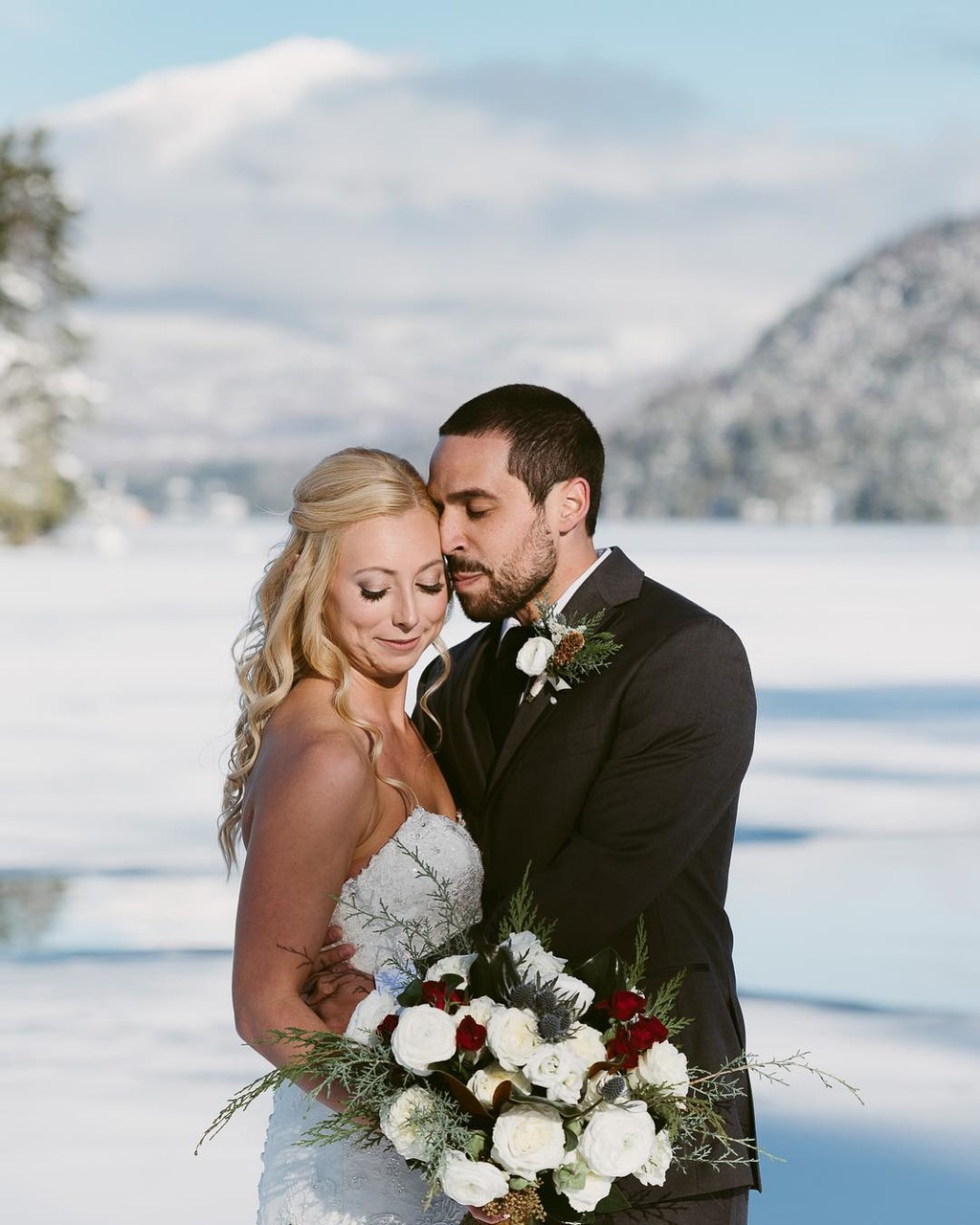 Lake Placid Winter Wedding Inspo •