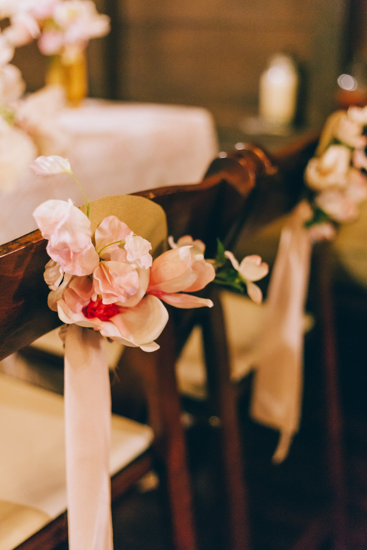 Cherry blossom sweetheart table chairs