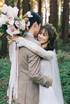 Contemporary Chic Wedding with Magnolias and Cherry Blossoms