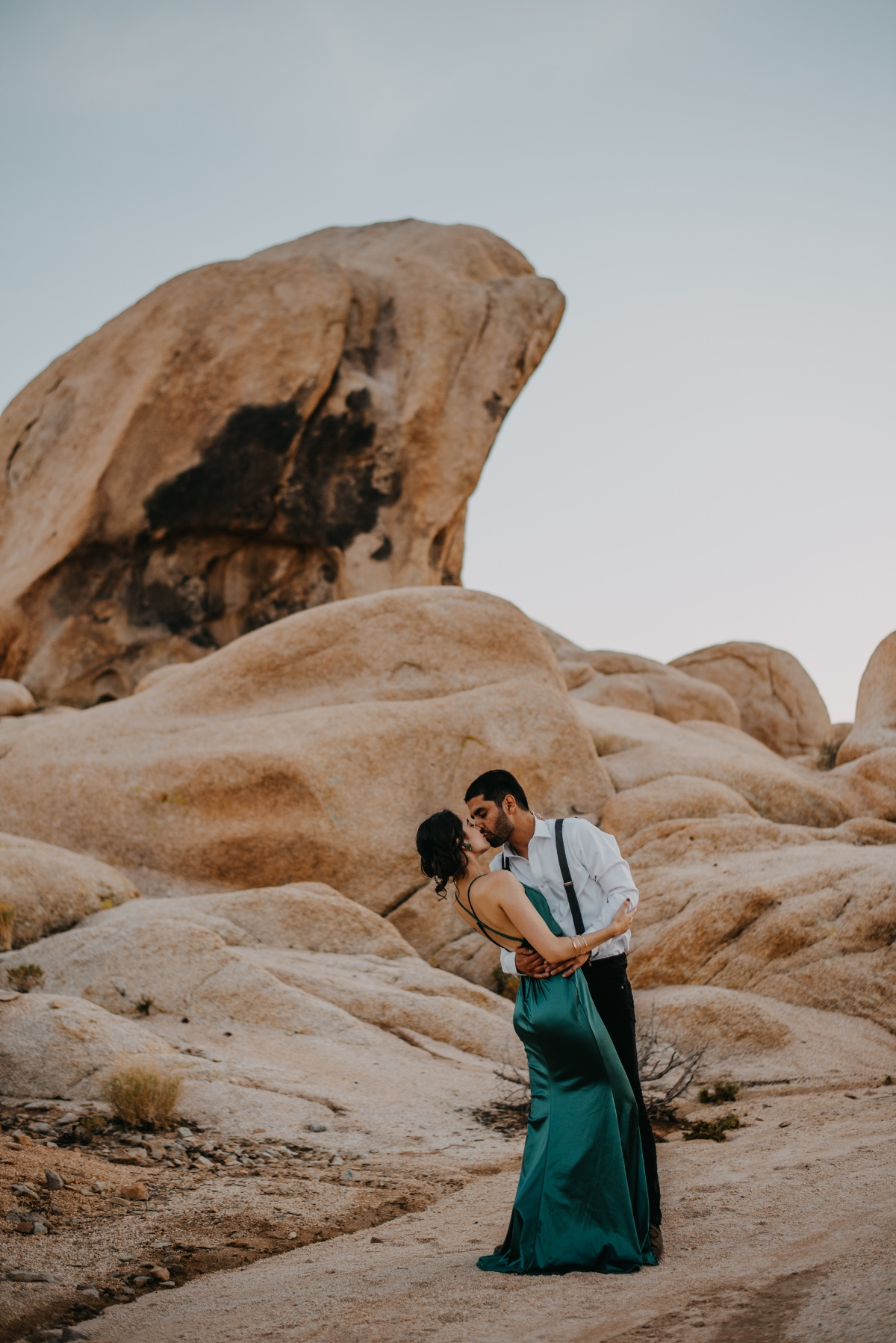 Desert love engagement shoot