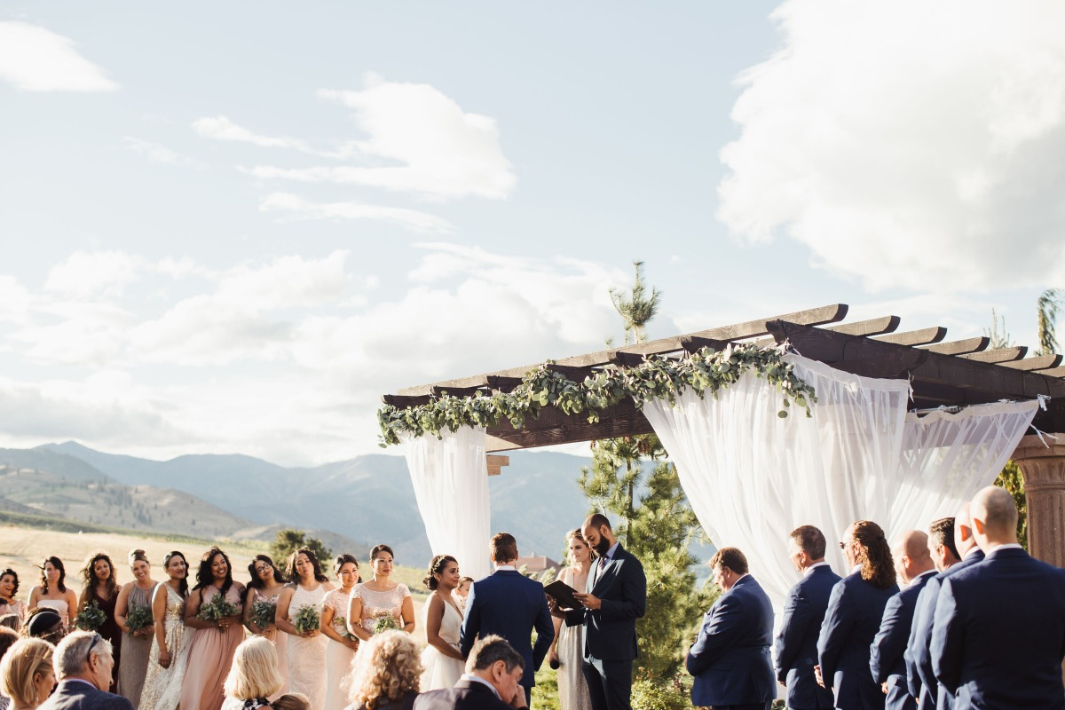 Outdoor ceremony in Washington