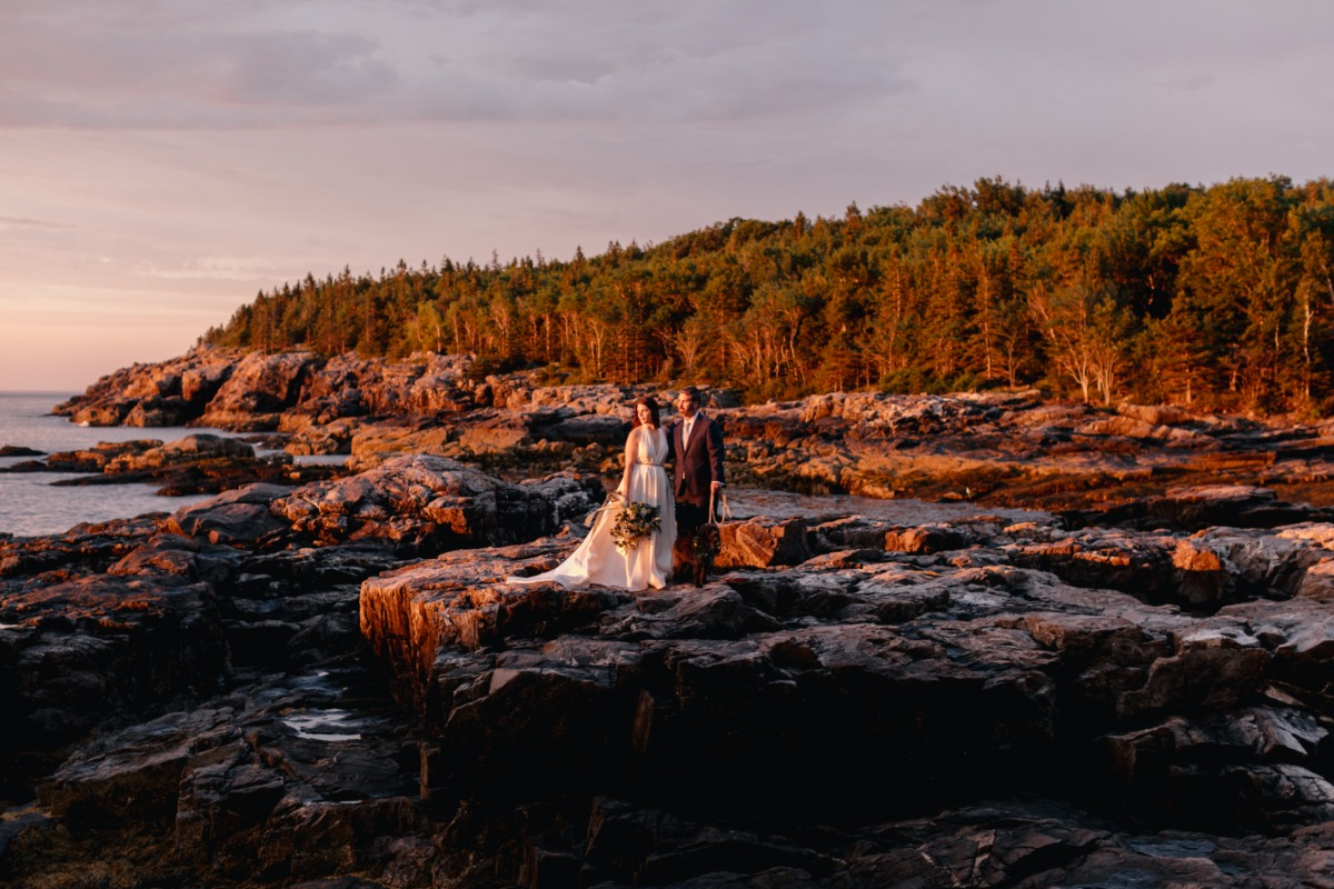 Sunrise wedding photos