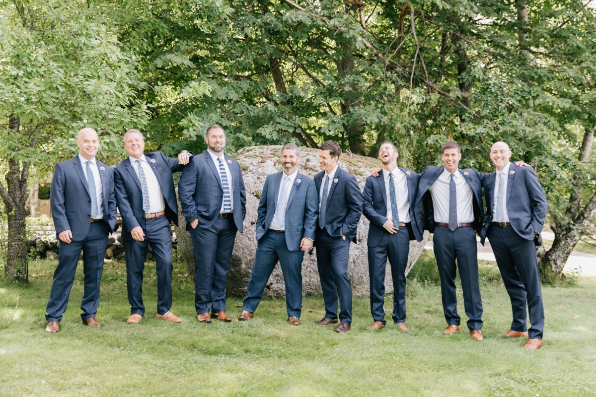 Groomsmen with mismatched ties
