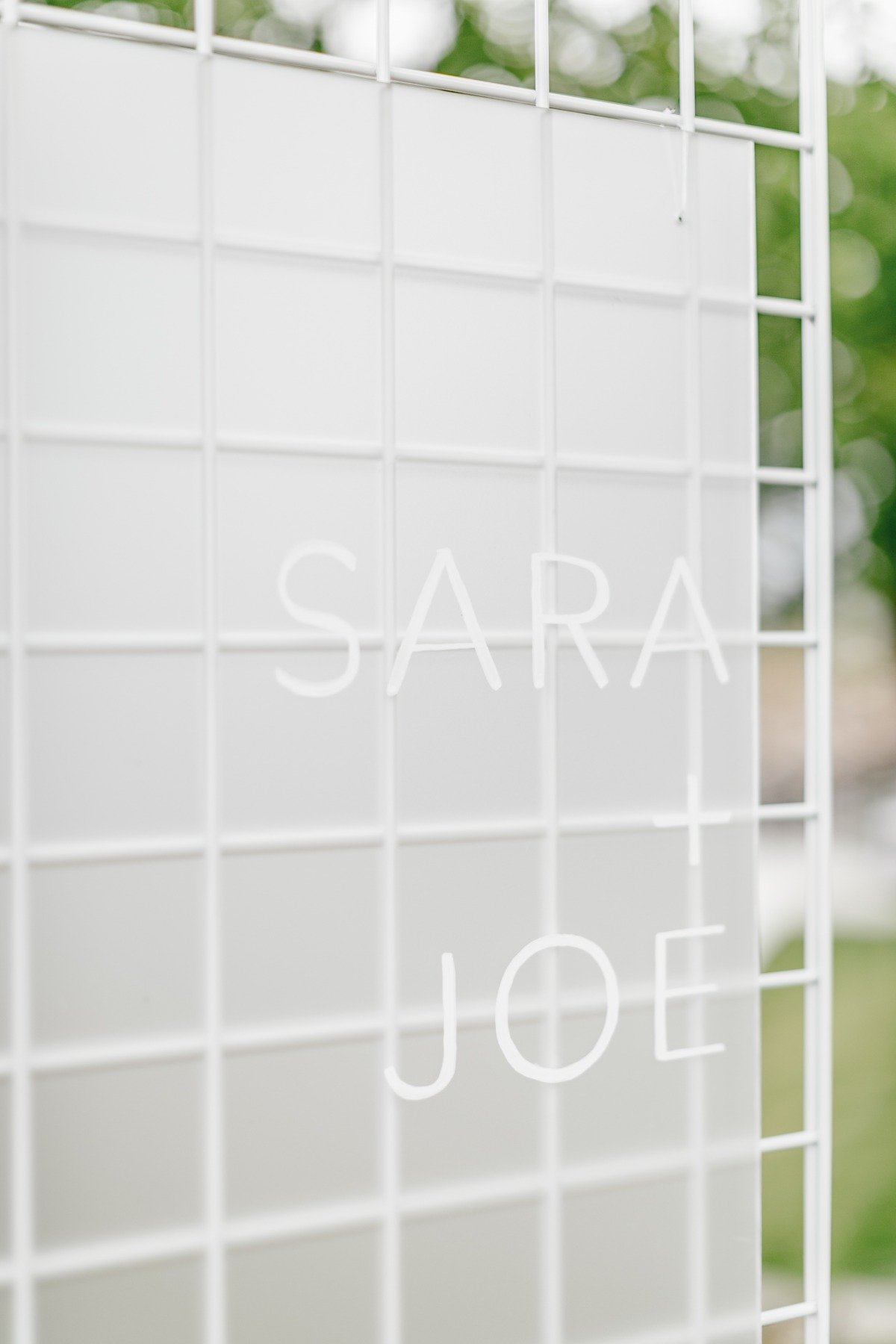 Modern acrylic wedding sign