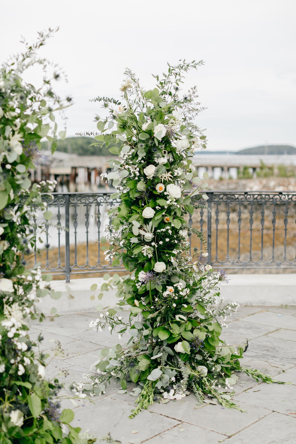 Ceremony floral backdrop