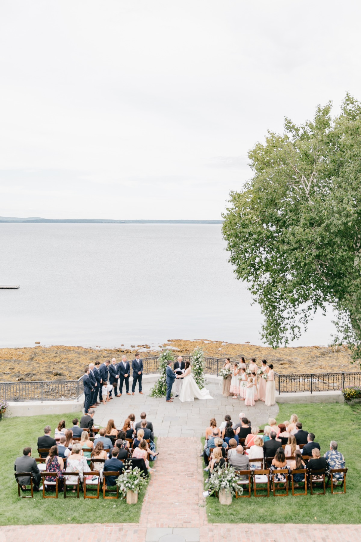 Seaside ceremony in Maine
