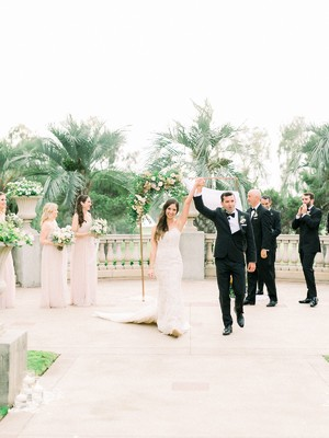 A Stylish Blush and Black Tie Wedding in San Diego