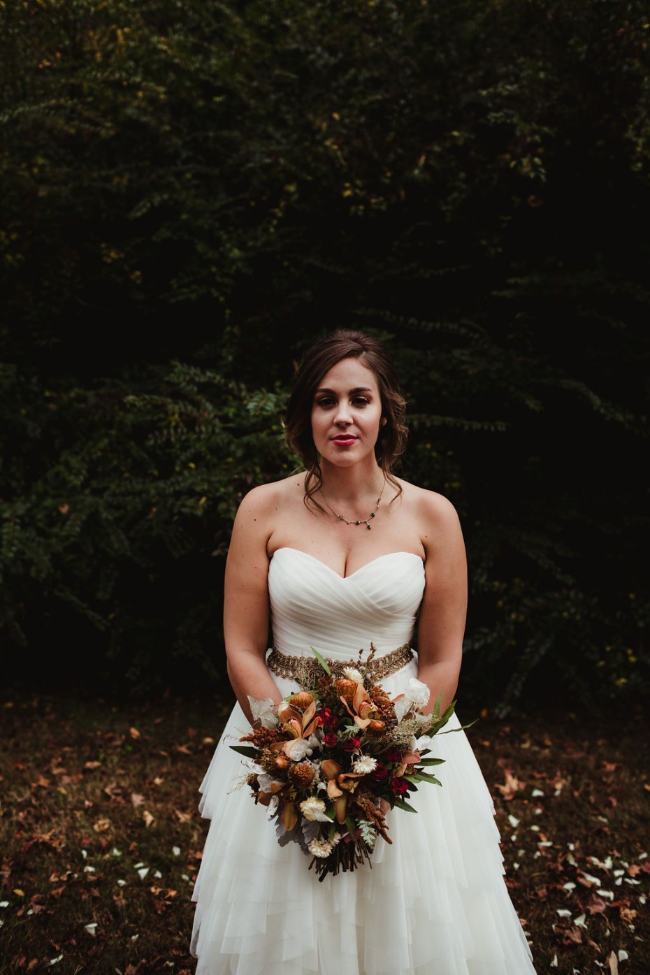 Autumn bridal look