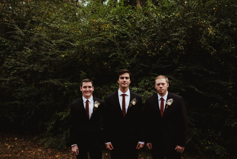 Matching groom and his men