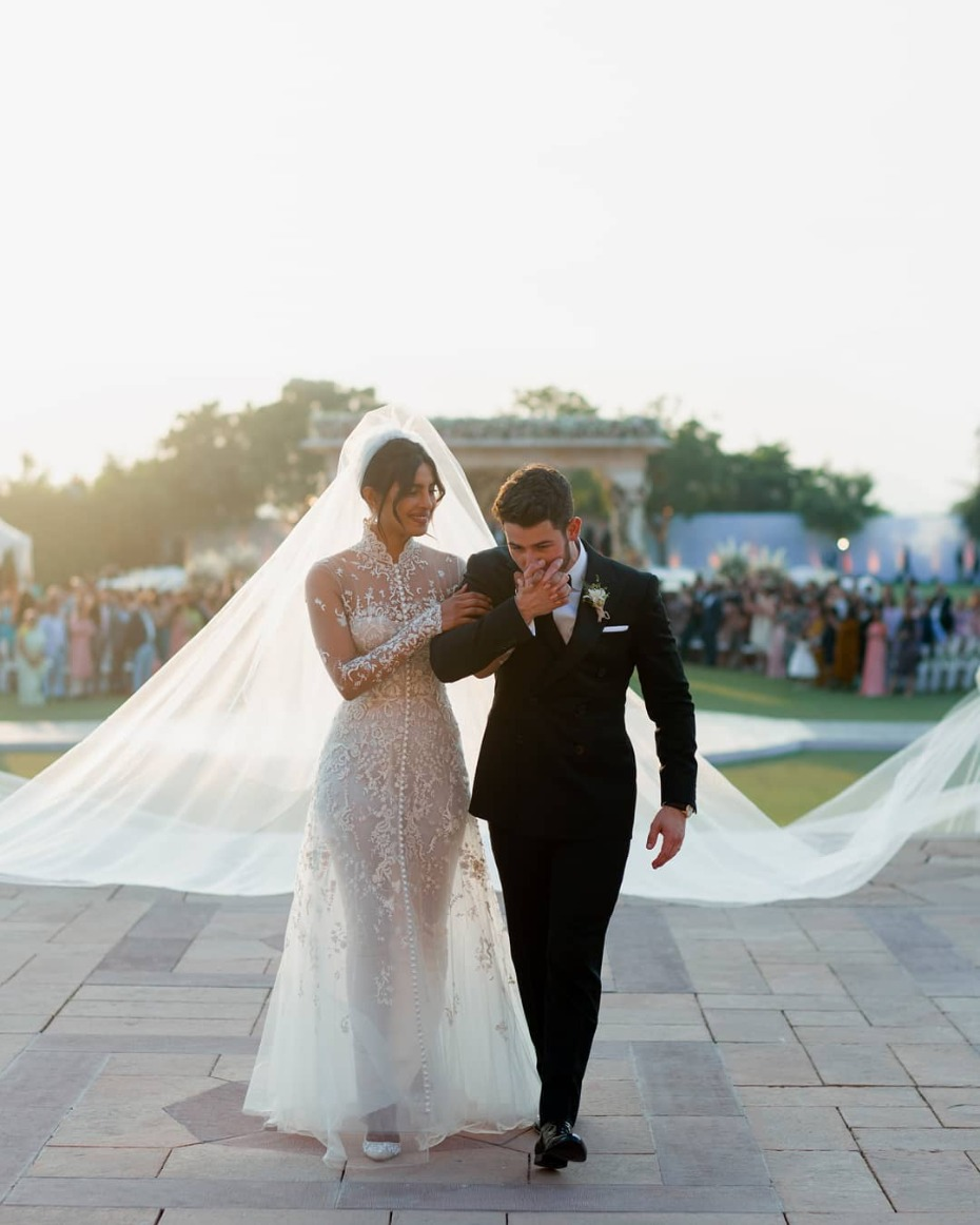 Priyanka Chopra Wedding Day Ralph Lauren Custom
