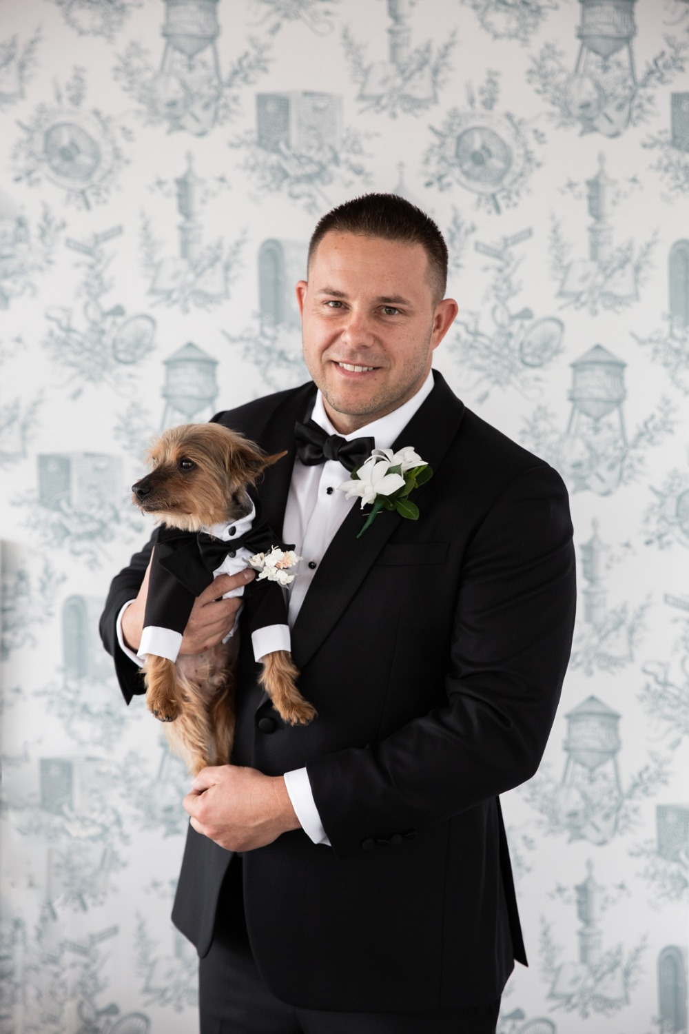 groom and best dog