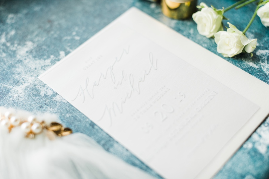 Our Modern Calligraphy Clear Wedding invitation are all class for your winter wedding!