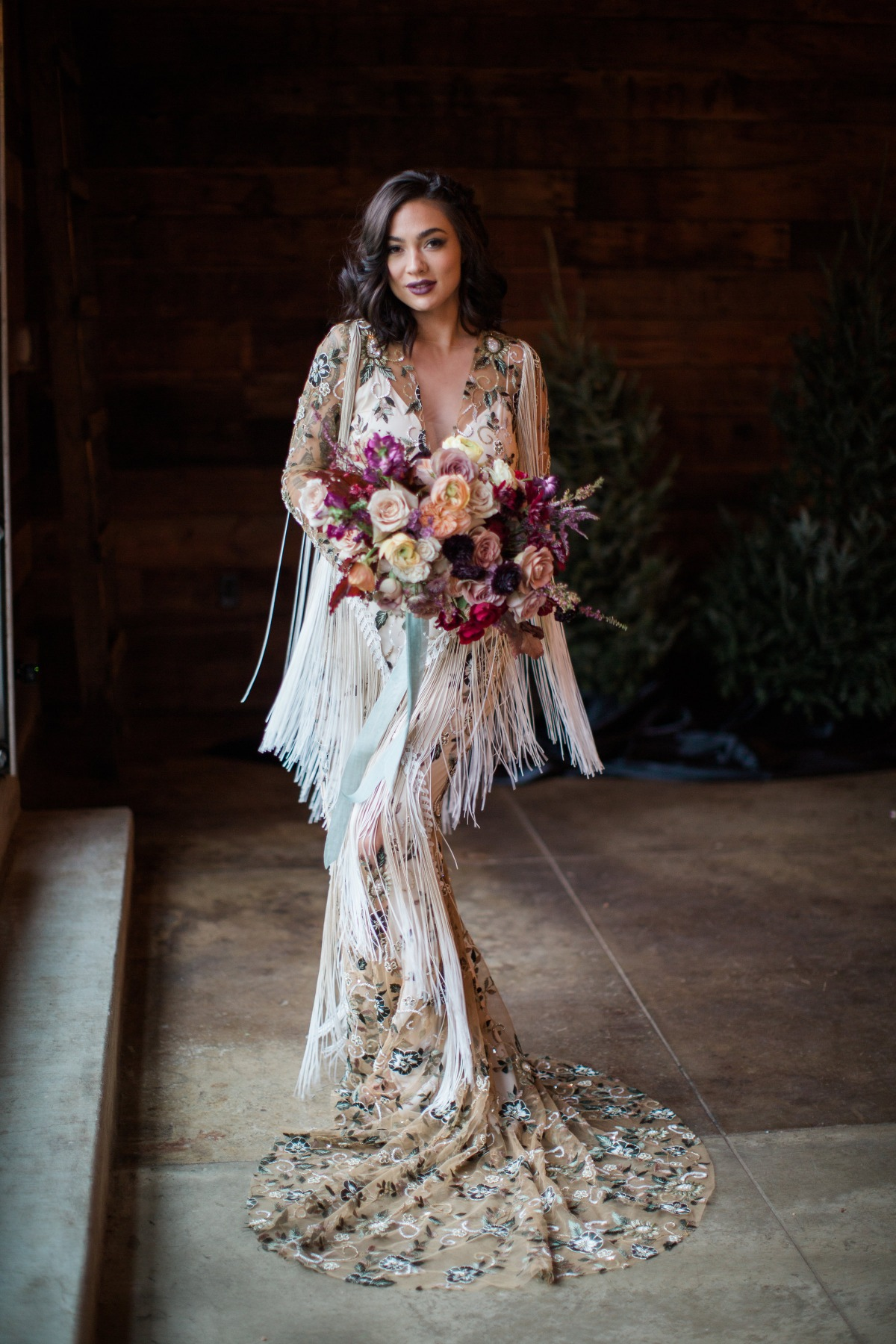 Boho winter wedding style in Rue De Seine