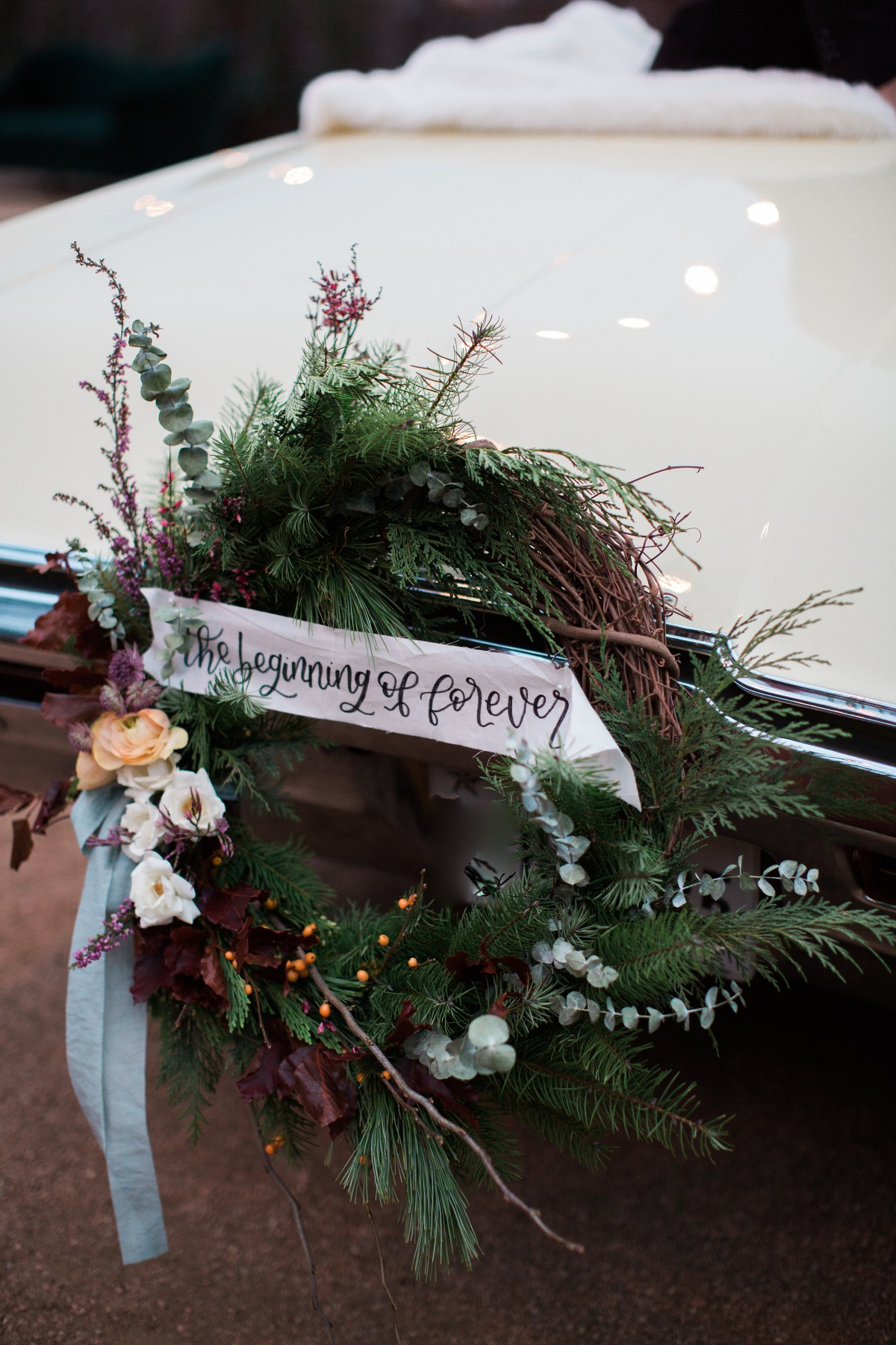 Getaway car wreath
