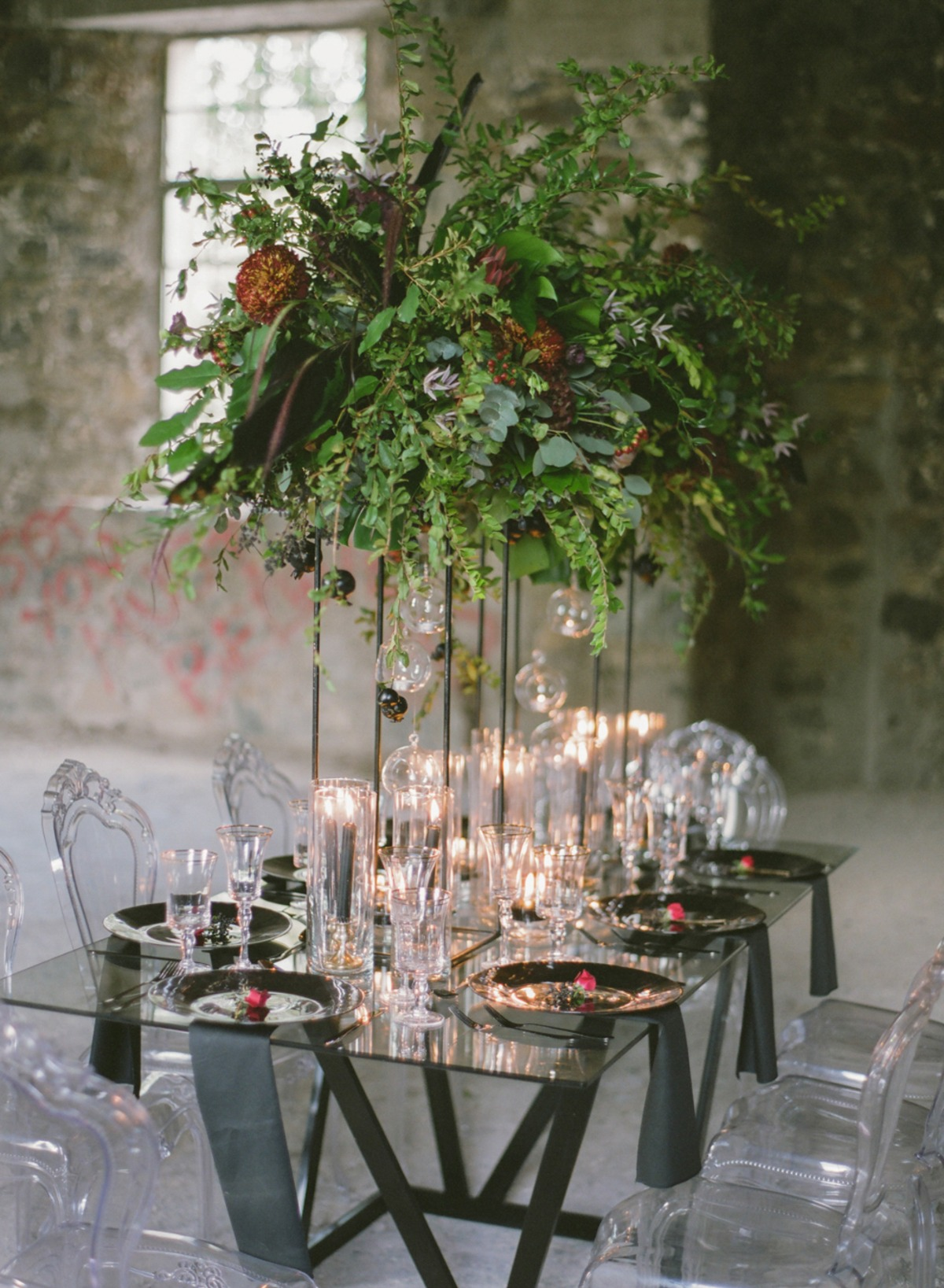 floating floral table halo