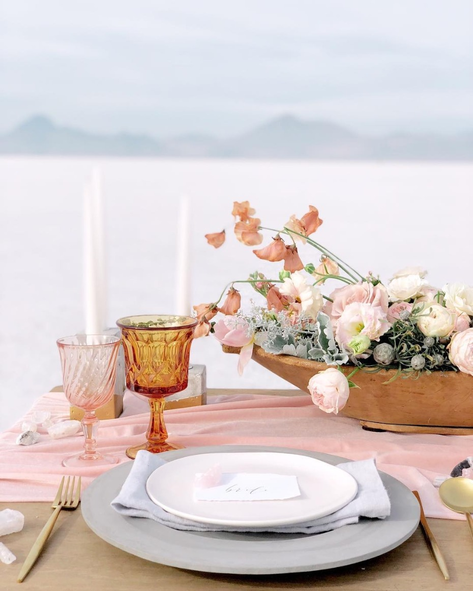 Pantone Living Coral Color of the Year Glassware Inspiration