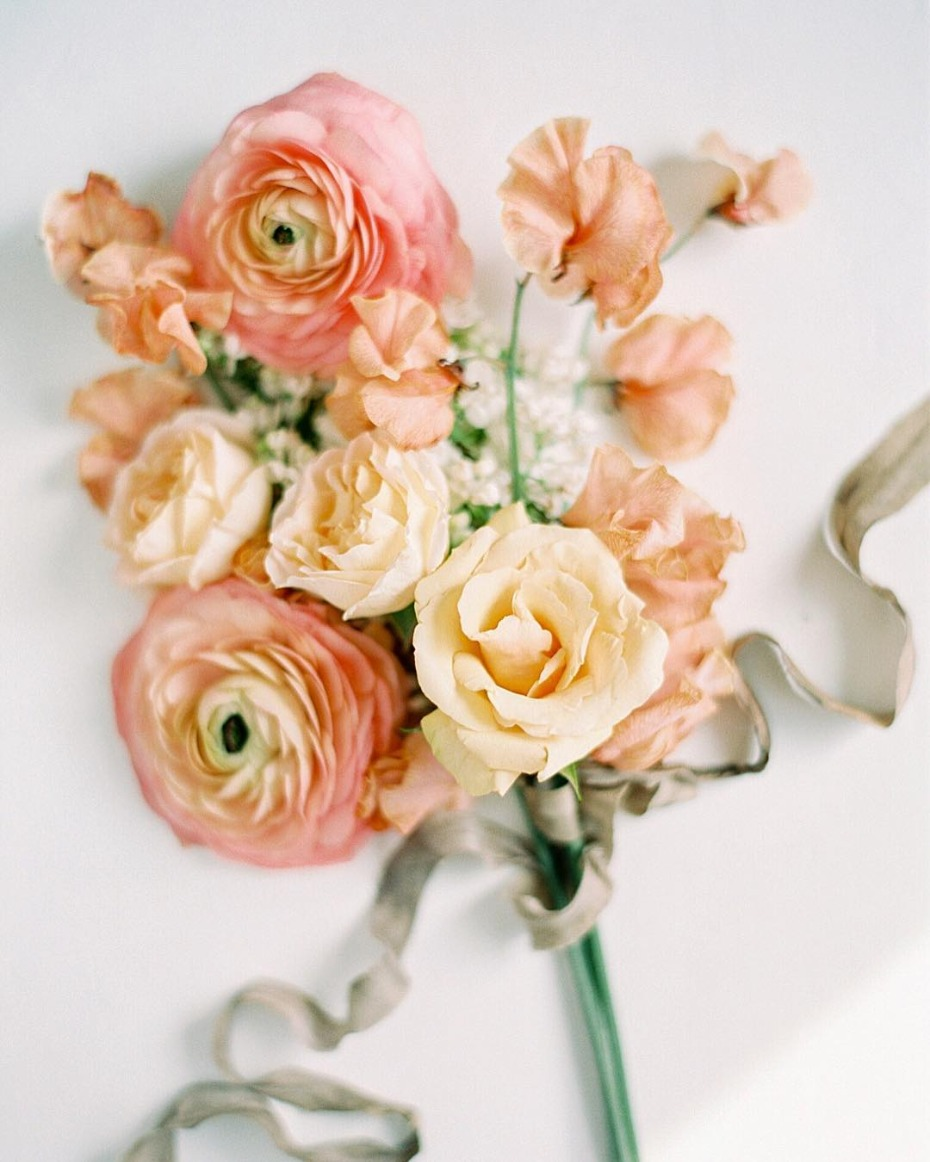 Pantone Living Coral Color of the Year Bouquet Inspiration