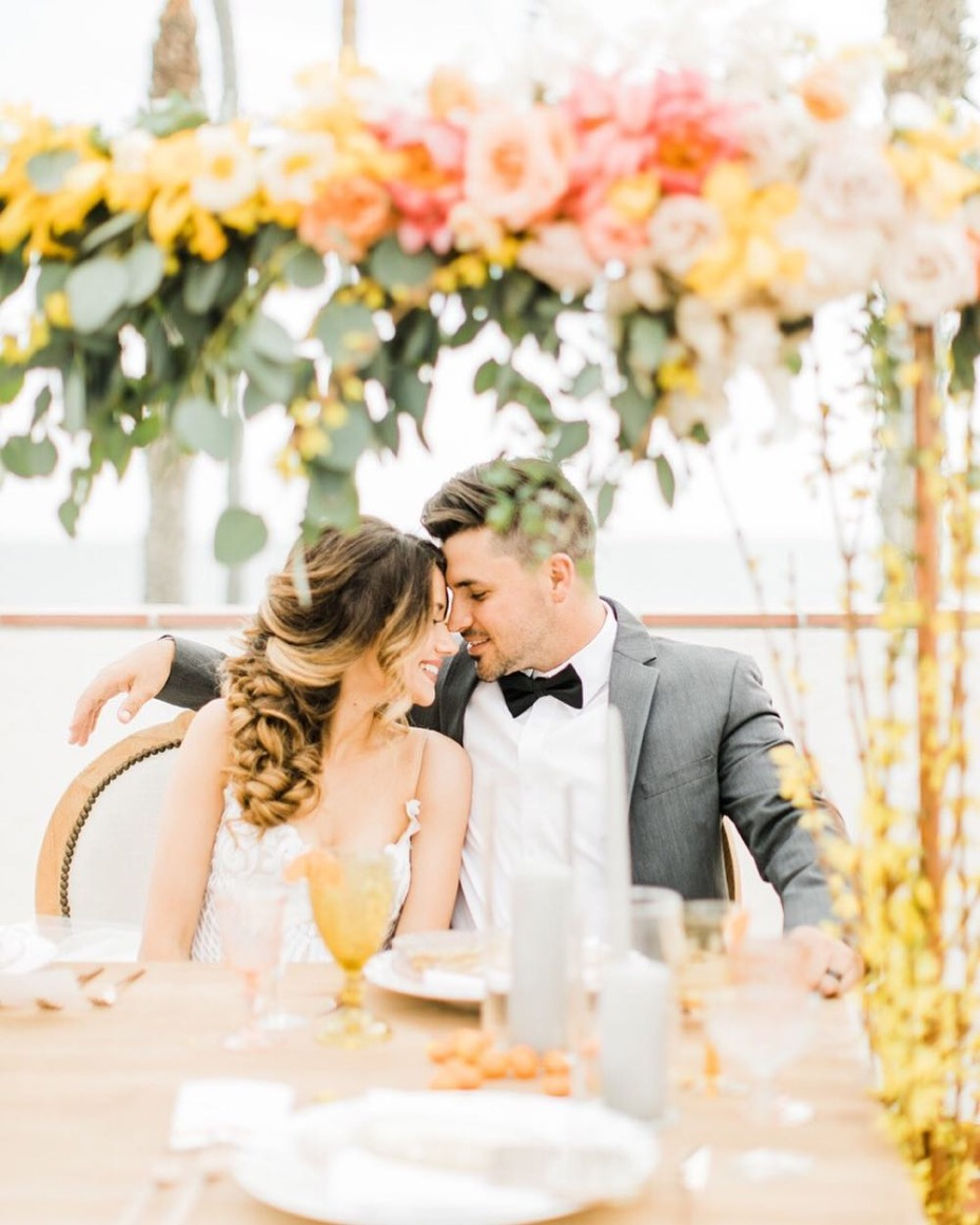 Pantone Living Coral Color of the Year Inspiration for Ceremony Backdrops