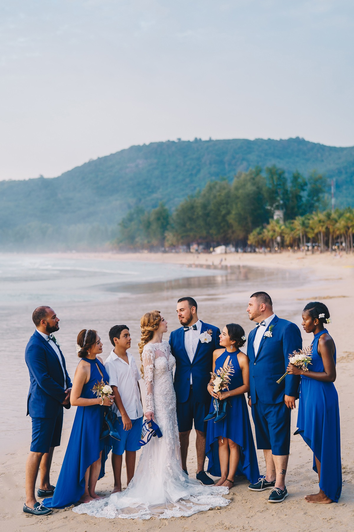 Navy and white wedding Thailand
