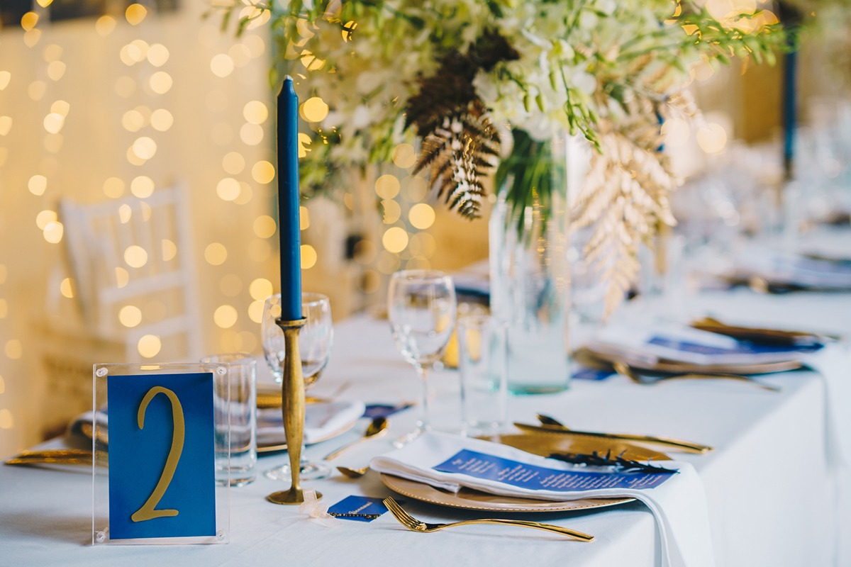 Navy and gold wedding Thailand