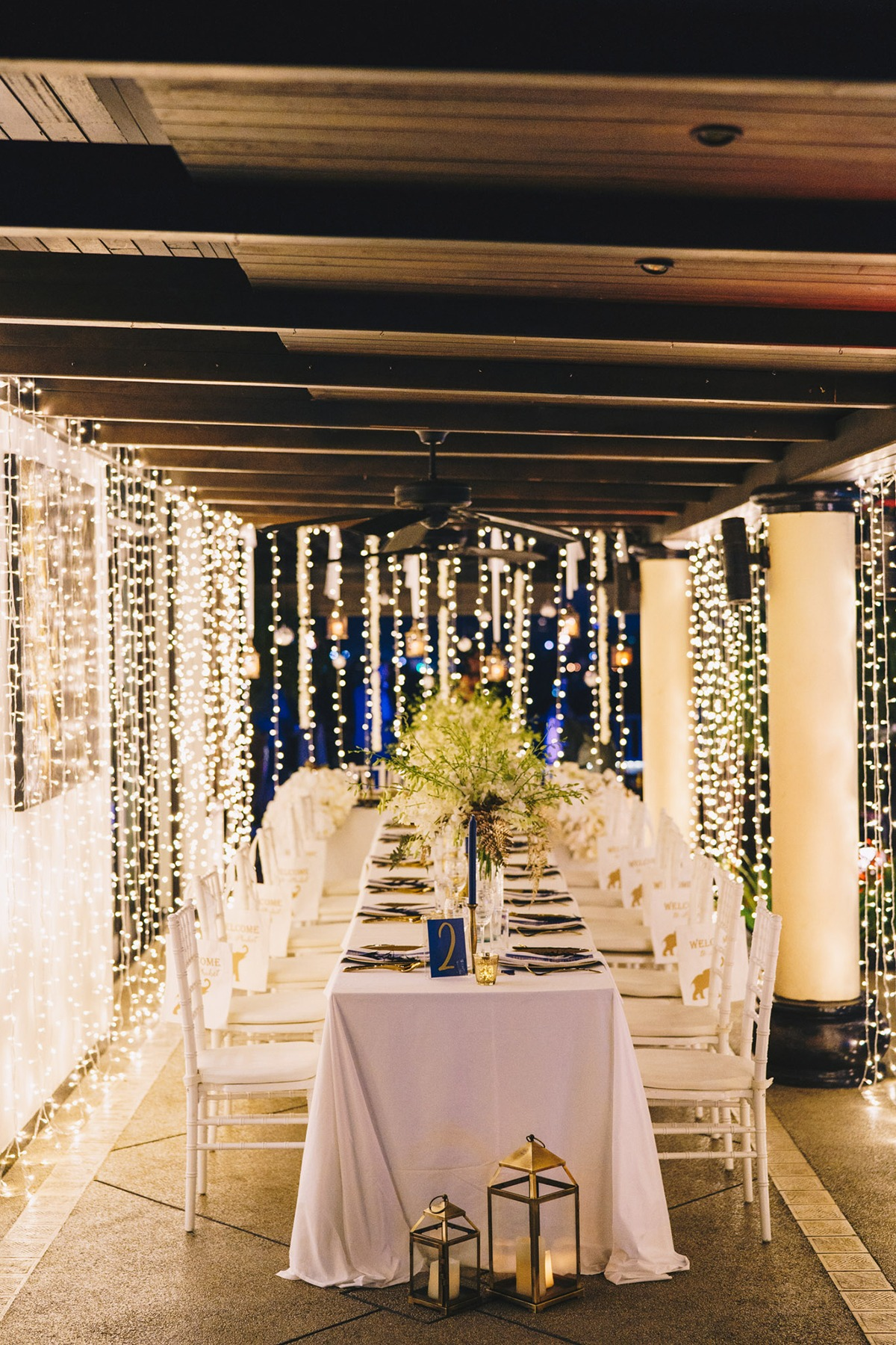 Twinkle lights reception