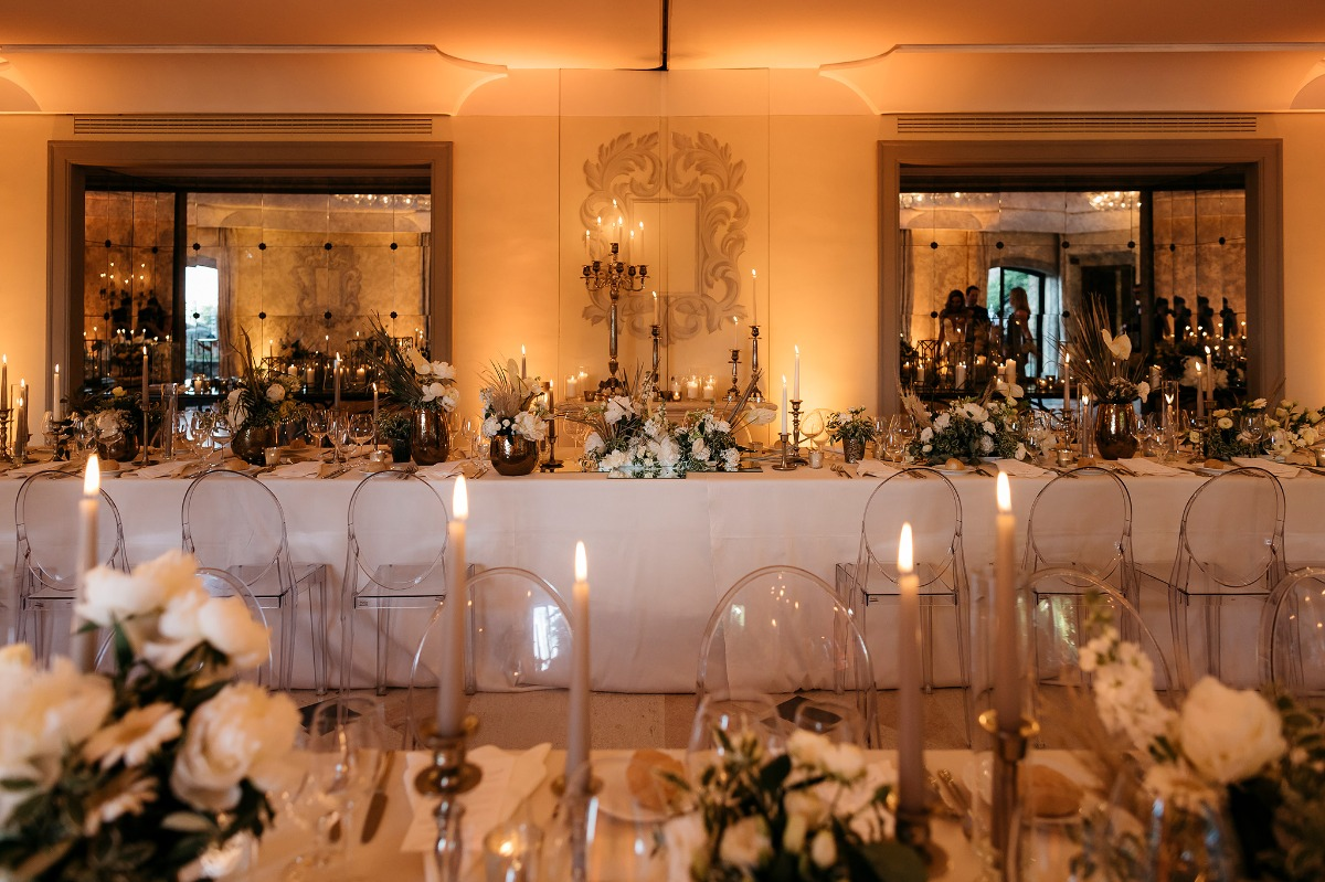 Elegant candle lit reception
