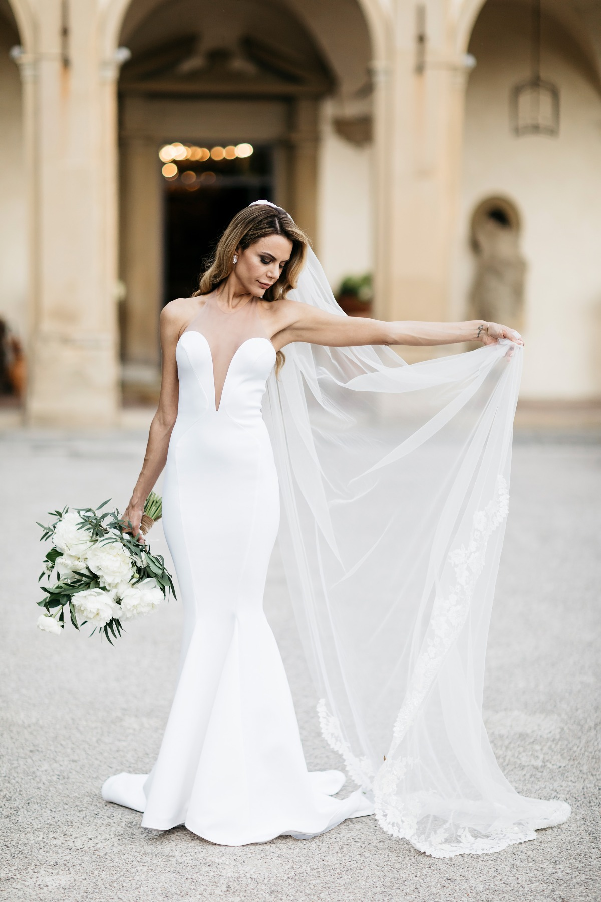 Gorgeous Michael Costello wedding dress