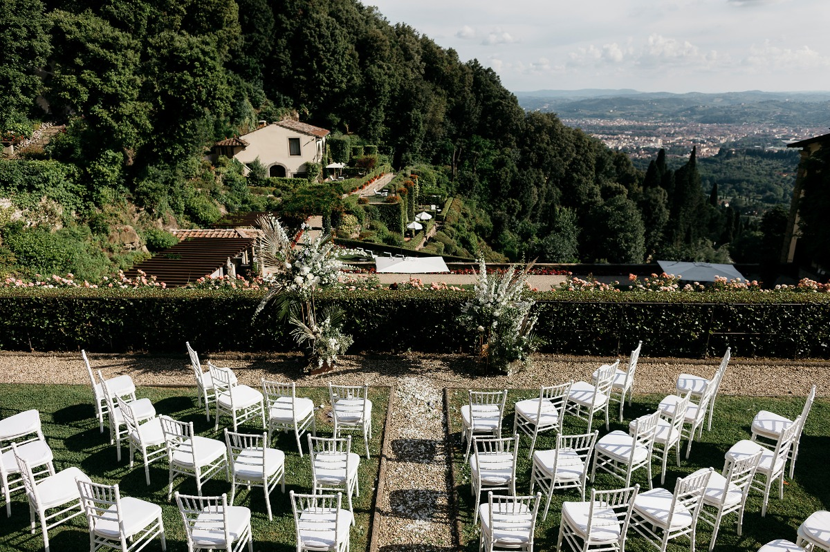 Italian countryside wedding with a view