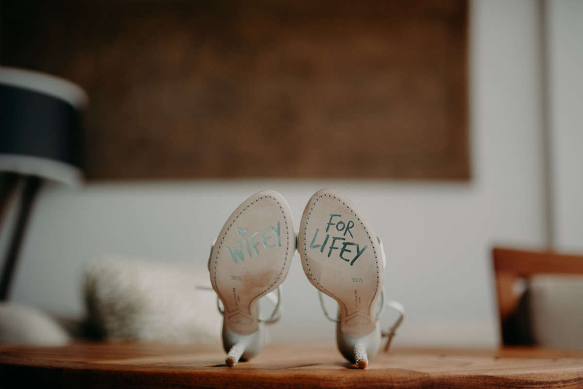 wifey for lifey wedding shoes
