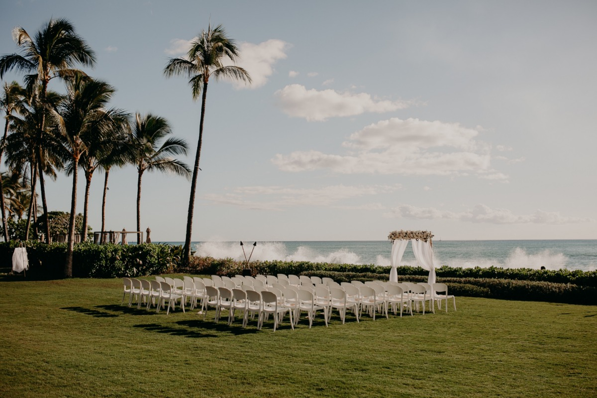 wedding ceremony at the beach in Hawaii
