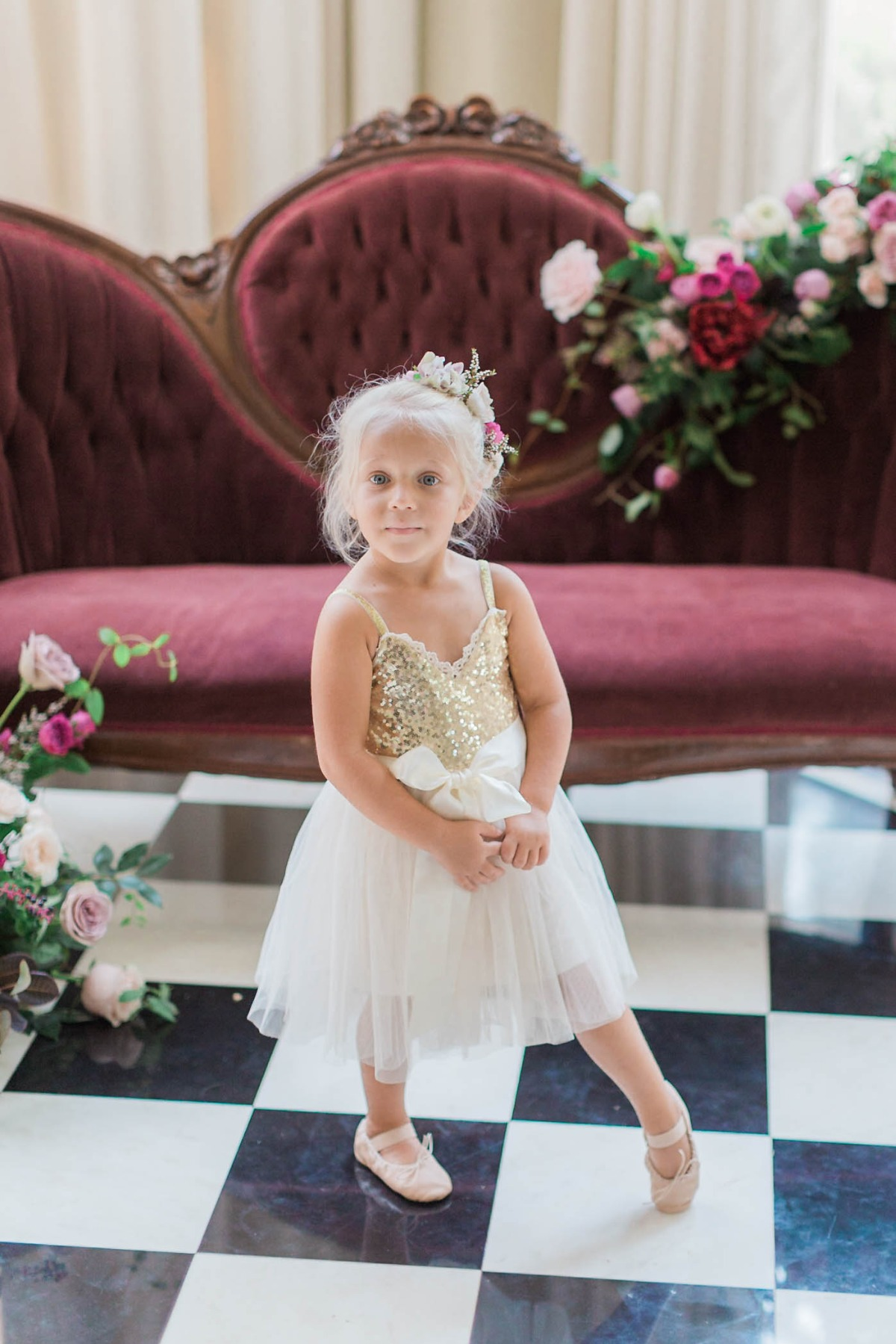 sweet ballerina flower girl