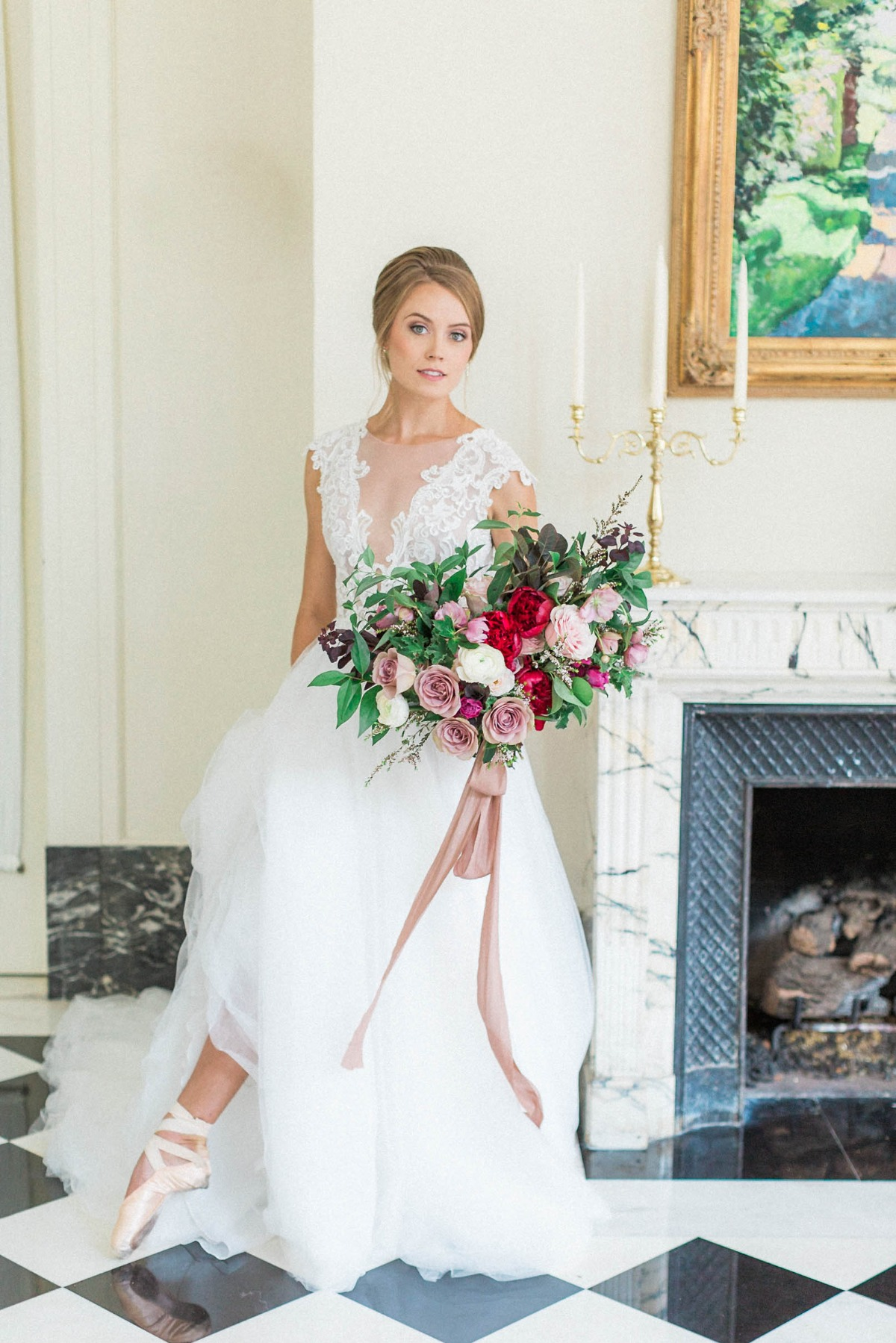 bride with a ballerina flair