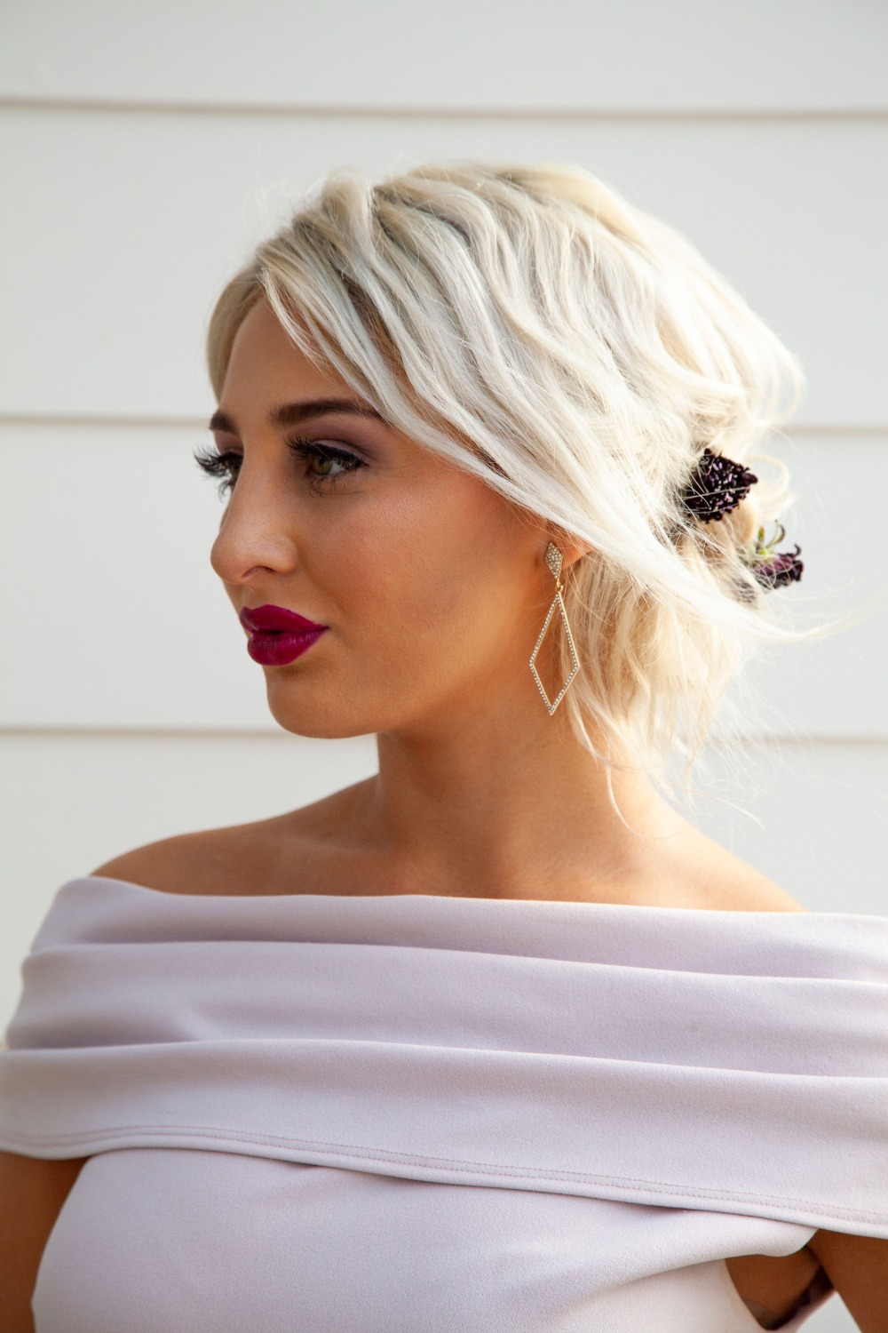cute updo for bridesmaid