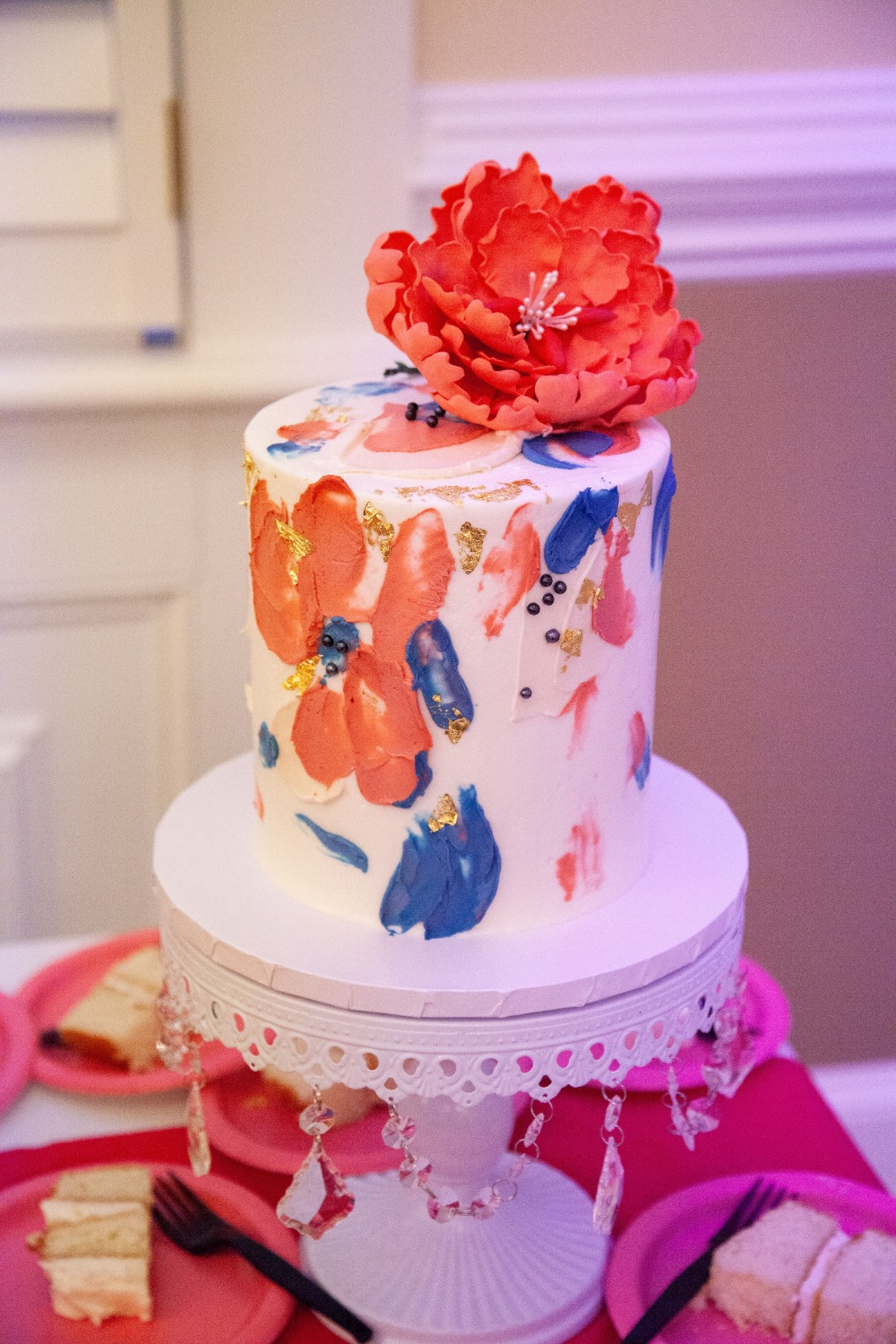 paint brush style wedding cake
