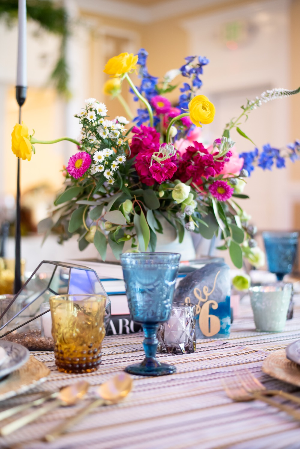 fun and funky floral decor