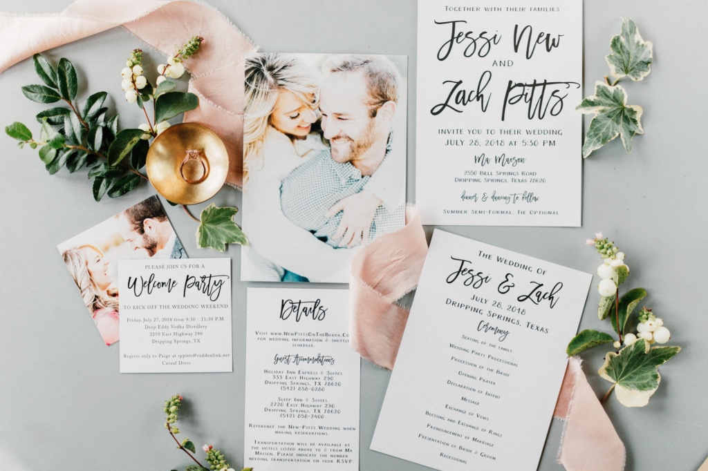 We are Swooning over the simplicity of this Sophisticated Typography Wedding Invitation Suite! It's perfect for the minimalist bride