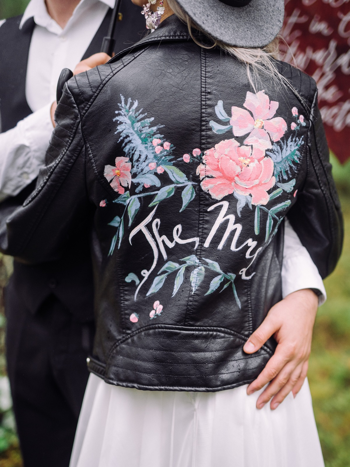 custom painted jacket