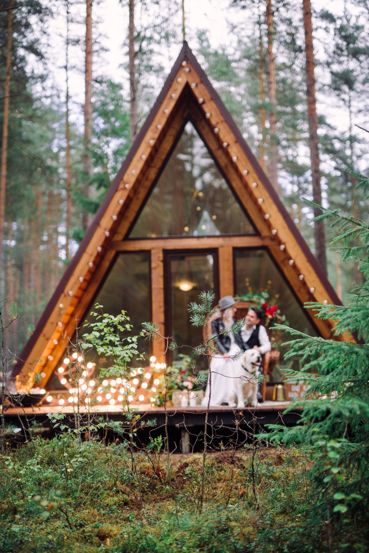 a frame wedding cabin