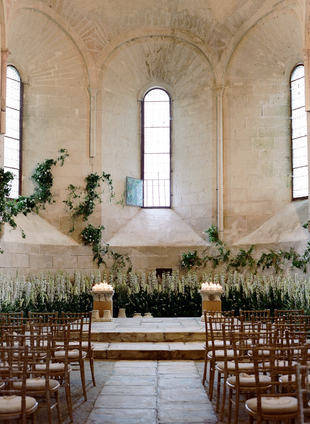 Talk about a romantic backdrop for a wedding ceremony! This medieval chapel was both intimate yet grand for a destination wedding
